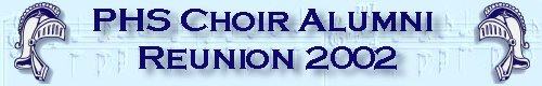 PHS Choir Reunion Logo